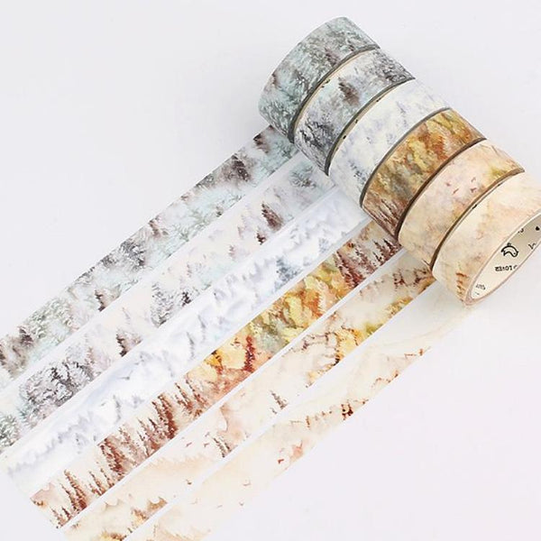 Silent Watercolor Nature Washi Tape