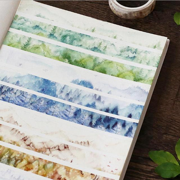 Silent Watercolor Nature Washi Tape 2