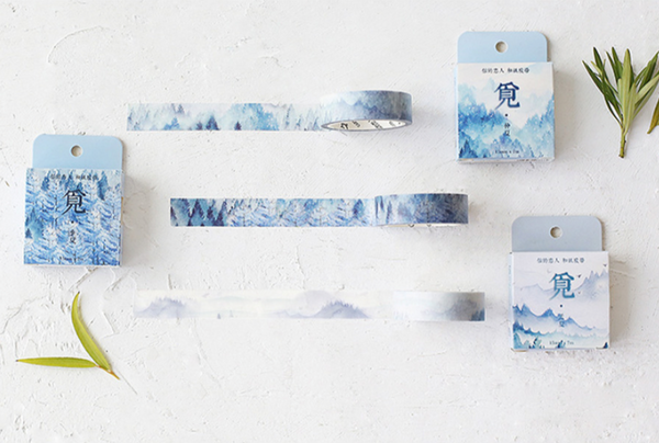 Silent Watercolor Nature Washi Tape 11
