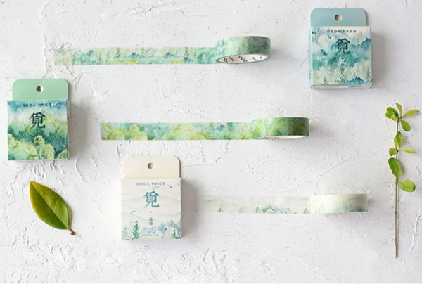 Silent Watercolor Nature Washi Tape 9