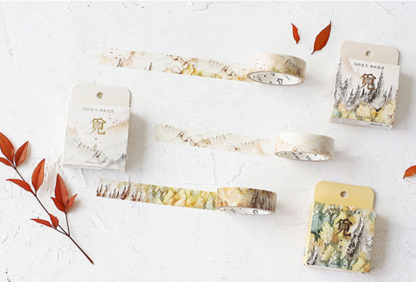 Silent Watercolor Nature Washi Tape 10