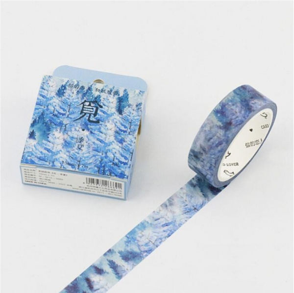 Silent Watercolor Nature Washi Tape 28