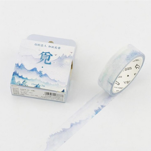 Silent Watercolor Nature Washi Tape 30