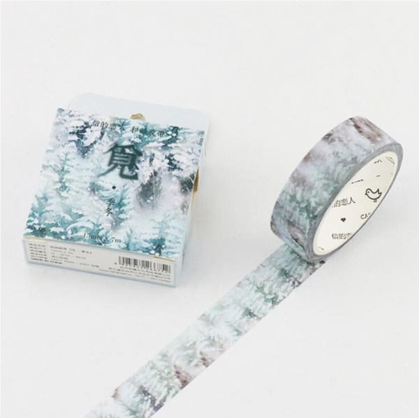 Silent Watercolor Nature Washi Tape 20