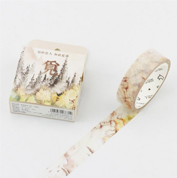 Silent Watercolor Nature Washi Tape 23