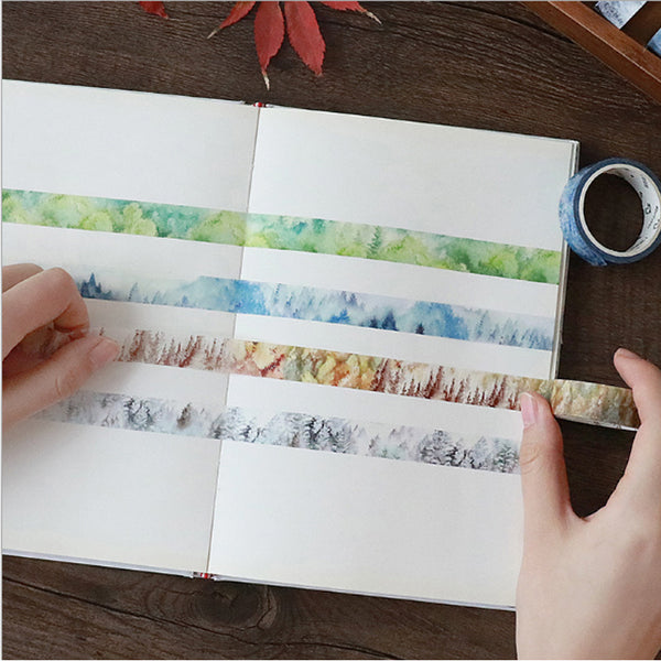 Silent Watercolor Nature Washi Tape 6