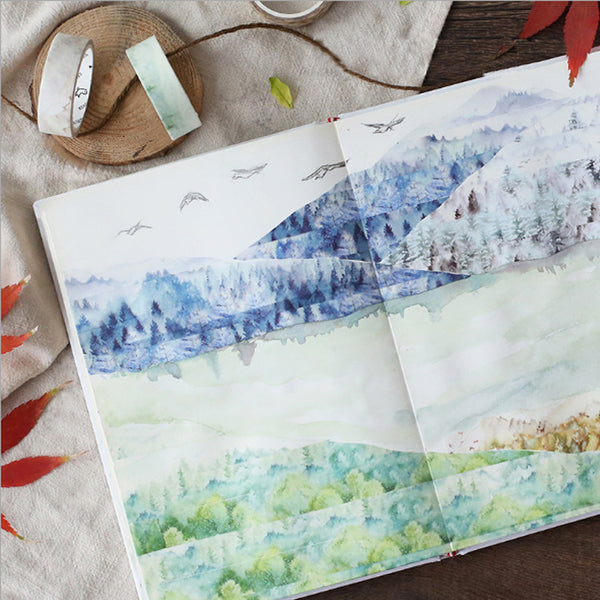 Silent Watercolor Nature Washi Tape 3