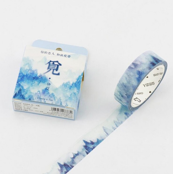 Silent Watercolor Nature Washi Tape 29