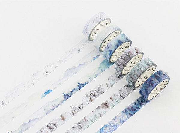 Silent Watercolor Nature Washi Tape 4