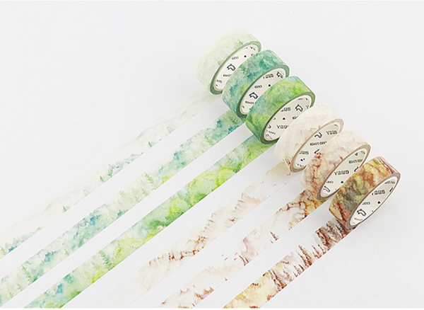 Silent Watercolor Nature Washi Tape 5
