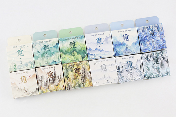Silent Watercolor Nature Washi Tape 18