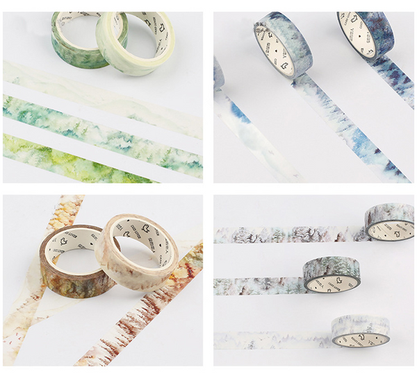 Silent Watercolor Nature Washi Tape 13