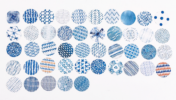 Blue Watercolor Decorative Sticker Set 8