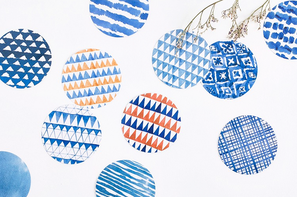 Blue Watercolor Decorative Sticker Set 3