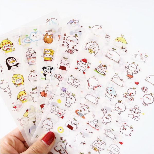 Cute Budding Pop Stickers