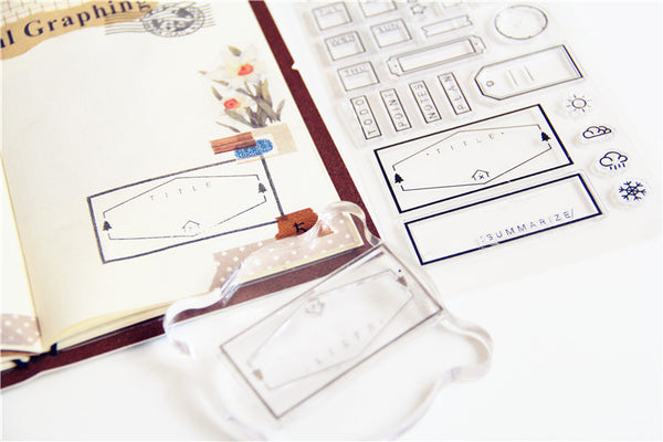 Bullet Journal Frames, Tags and Icons Stamp Set 6