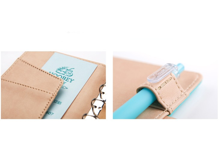 Cat Closure Leather Personal Planner Kawaii Pen Shop