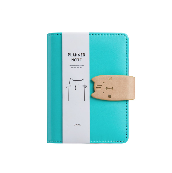 Cat Closure Leather Personal Planner 10