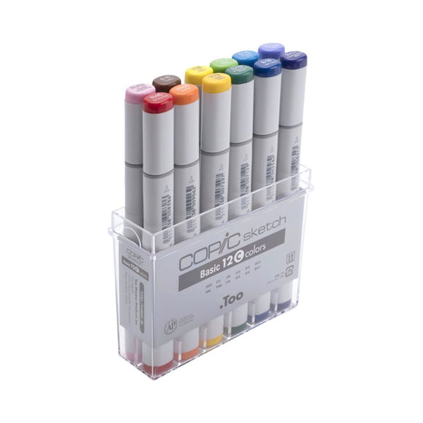 Copic Sketch Markers - Basic 12 Colors Set C