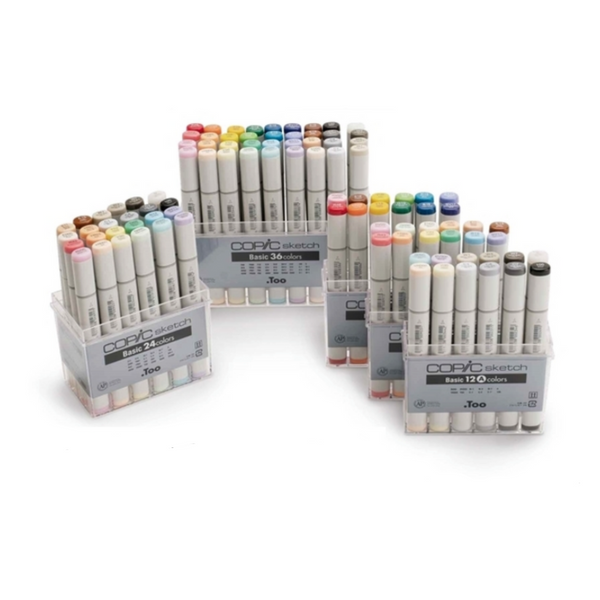 Copic Sketch Markers - Basic 24 Colors Set 3