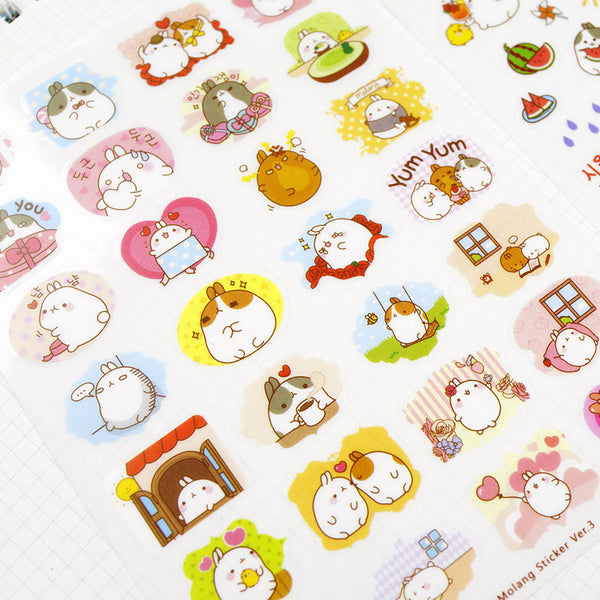 Creative Molang Rabbit Stickers 6-pack 2