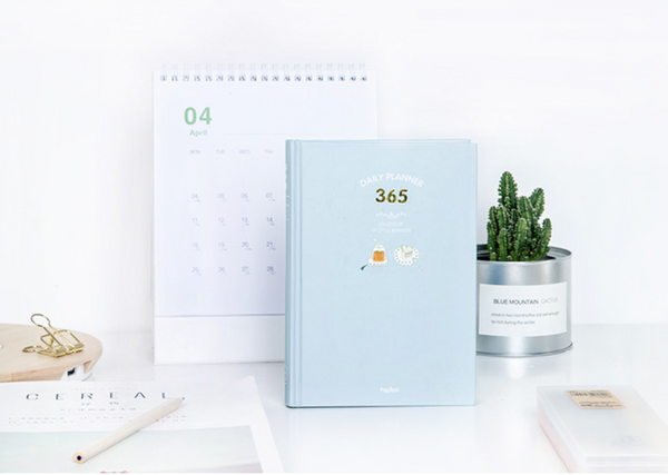 365 Days Personal Planner - Bright Colors - Sky Blue