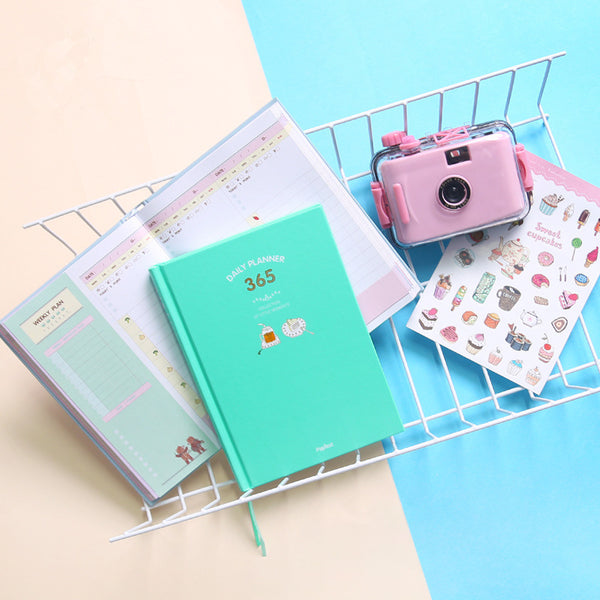 365 Days Personal Planner - Bright Colors - Mint