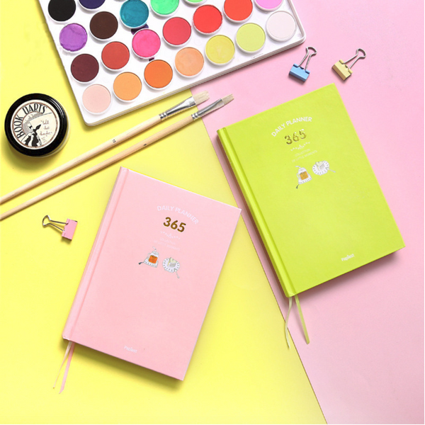 365 Days Personal Planner - Bright Colors - Flat lay