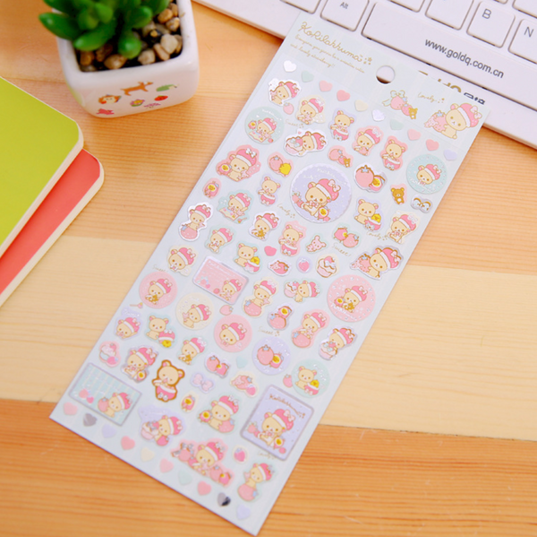 Rilakkuma Stickers San-x Stationery 11