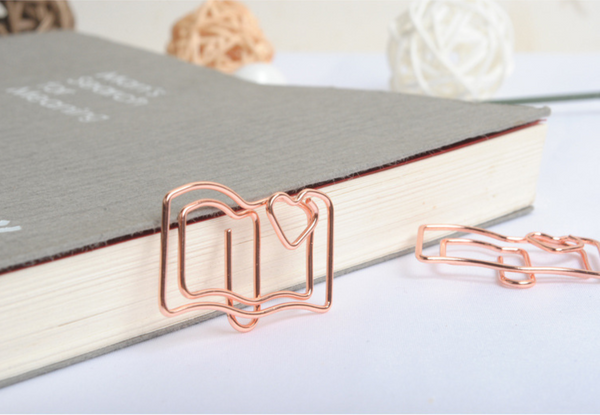 Rose Gold Book Paper Clip