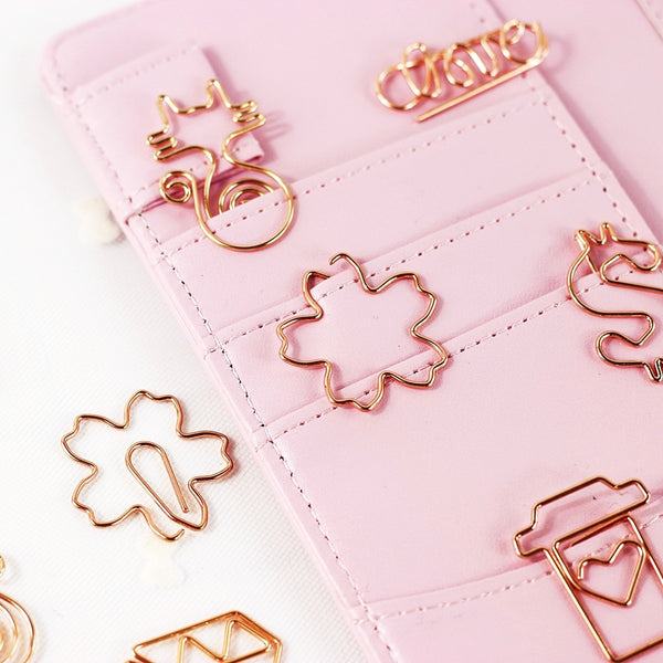 Rose Gold Paper Clip Set 6