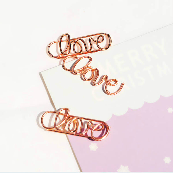 Rose Gold Paper Clip Set 5