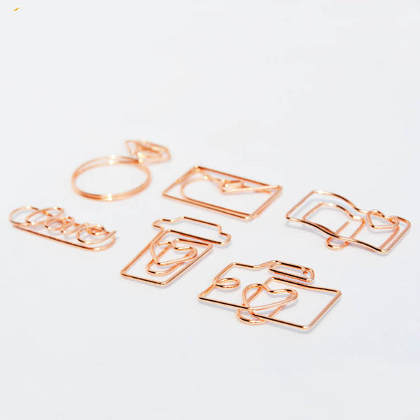 Rose Gold Paper Clip Set 12