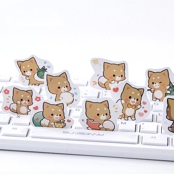 Cheery Puppy Paper Stickers