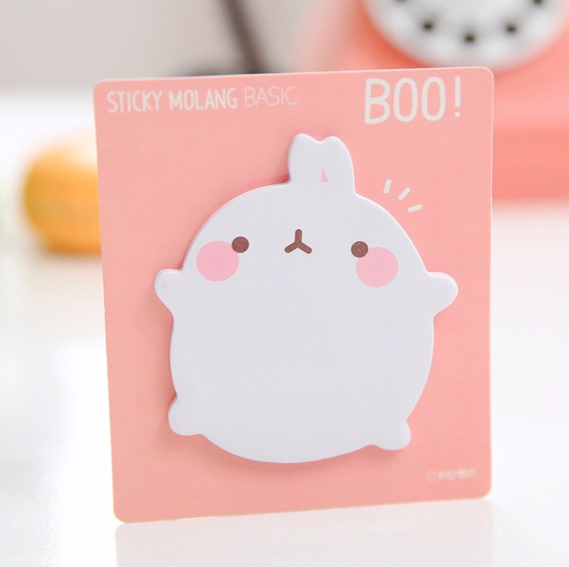 Molang Rabbit Post-it Memo Pad 4