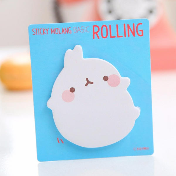 Molang Rabbit Post-it Memo Pad 6