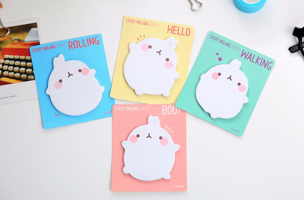 Molang Rabbit Post-it Memo Pad 3