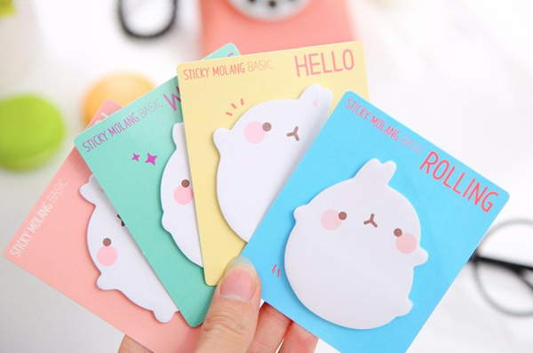 Molang Rabbit Post-it Memo Pad 2