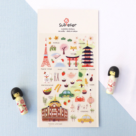 Suatelier Plastic Stickers - Daily in Tokyo