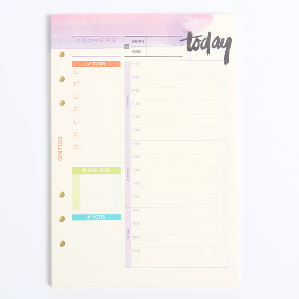 Do It Today Spiral Planner Refills Daily Planner