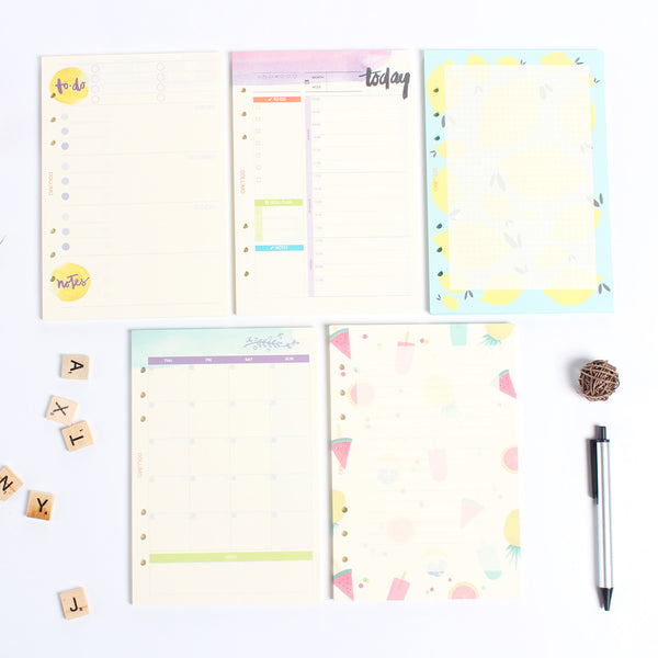 Do It Today Spiral Planner Refills Set