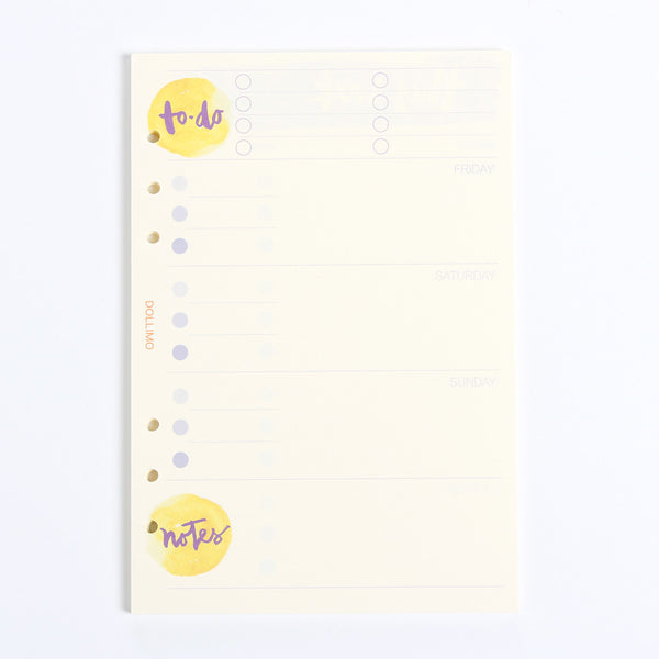 Do It Today Spiral Planner Refills To Do List