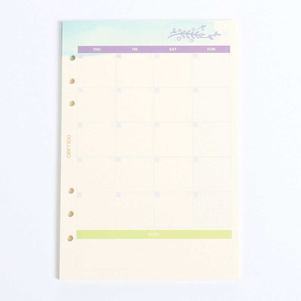 Do It Today Spiral Planner Refills Weekly Planner
