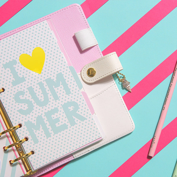 Kawaii Ice Cream Spiral Organiser + Accessories