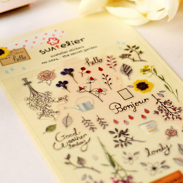 Suatelier Stickers - The Secret Garden