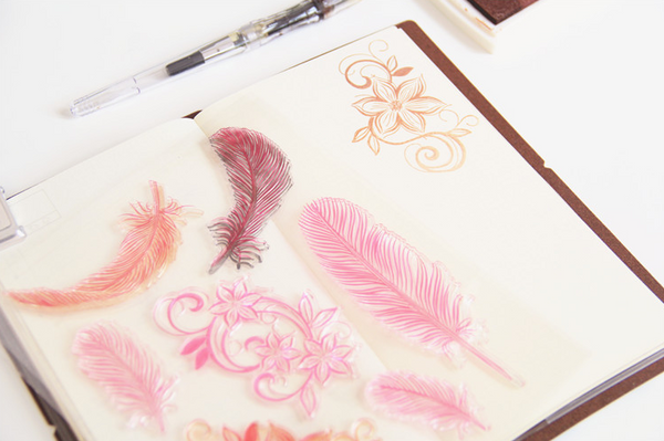 Feather & Flower Stamp Set 3