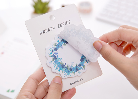 Floral Wreath Series Sticky Notes