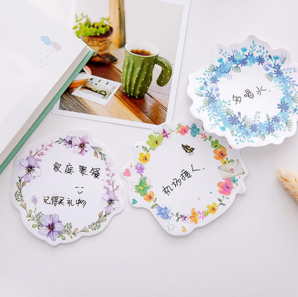 Floral Wreath Series Sticky Notes 3