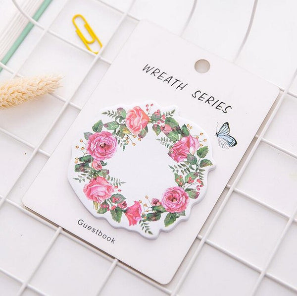 Floral Wreath Series Sticky Notes 6