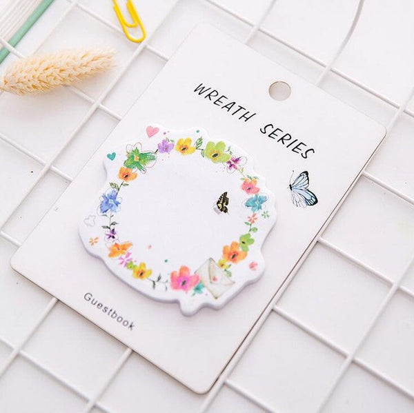 Floral Wreath Series Sticky Notes 7